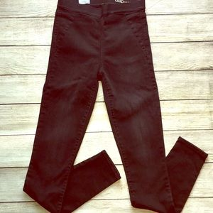 GAP 1969 Resolution Pull On Black Jeans High Waist